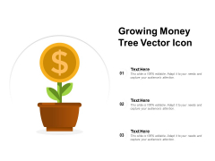 Growing Money Tree Vector Icon Ppt PowerPoint Presentation Slides Gallery