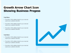 Growth Arrow Chart Icon Showing Business Progess Ppt PowerPoint Presentation Gallery Icons PDF