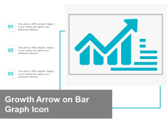 Growth Arrow On Bar Graph Icon Ppt Powerpoint Presentation Infographic Template Clipart