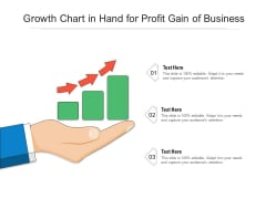 Growth Chart In Hand For Profit Gain Of Business Ppt PowerPoint Presentation File Background PDF