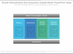Growth Diversification And Acquisition Capital Model Powerpoint Ideas