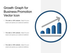 Growth Graph For Business Promotion Vector Icon Ppt PowerPoint Presentation Slides Background PDF