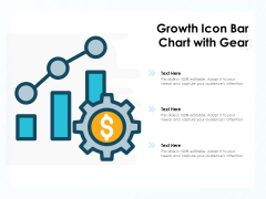 Growth Icon Bar Chart With Gear Ppt PowerPoint Presentation Icon Slides