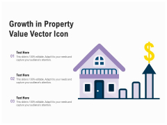 Growth In Property Value Vector Icon Ppt PowerPoint Presentation Slides Example Introduction