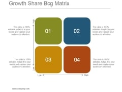 Growth Share Bcg Matrix Powerpoint Slide Template