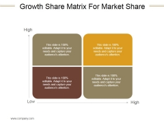 Growth Share Matrix For Market Share Ppt PowerPoint Presentation Ideas