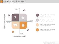 Growth Share Matrix Ppt PowerPoint Presentation Designs