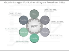 Growth Strategies For Business Diagram Powerpoint Slides