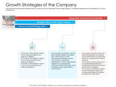 Growth Strategies Of The Company Clipart PDF