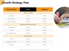 Growth Strategy And Growth Management Implementation Growth Strategy Plan Ppt Gallery Format PDF