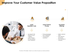 Growth Strategy And Growth Management Implementation Improve Your Customer Value Proposition Ppt Icon Styles PDF