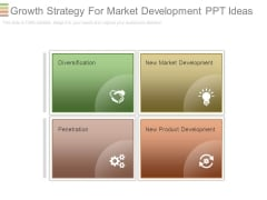 Growth Strategy For Market Development Ppt Ideas