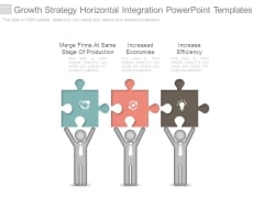 Growth Strategy Horizontal Integration Powerpoint Templates