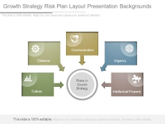 Growth Strategy Risk Plan Layout Presentation Backgrounds
