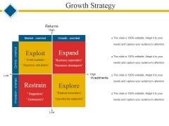 Growth Strategy Template 1 Ppt PowerPoint Presentation Show Styles