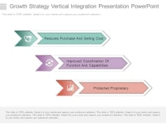 Growth Strategy Vertical Integration Presentation Powerpoint