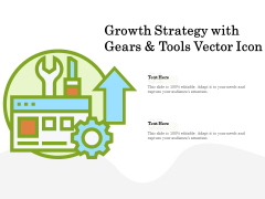 Growth Strategy With Gears And Tools Vector Icon Ppt PowerPoint Presentation Show Slideshow