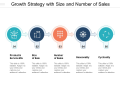 Growth Strategy With Size And Number Of Sales Ppt PowerPoint Presentation Summary Outfit