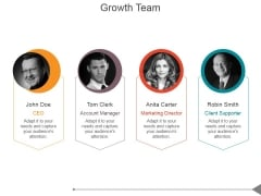 Growth Team Ppt PowerPoint Presentation Images