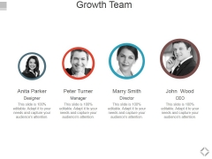 Growth Team Ppt PowerPoint Presentation Layouts Samples