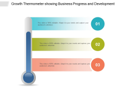 Growth Thermometer Showing Business Progress And Development Ppt PowerPoint Presentation Professional Good