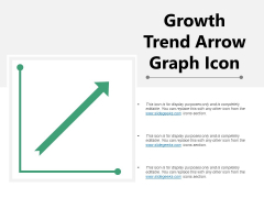 Growth Trend Arrow Graph Icon Ppt PowerPoint Presentation Summary Model