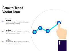 Growth Trend Vector Icon Ppt PowerPoint Presentation Model Slides