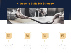 Guide Map Employee Experience Workplace 4 Steps To Build HR Strategy Ppt Outline Show PDF