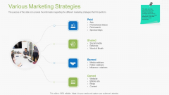Guidebook For Business Various Marketing Strategies Infographics PDF
