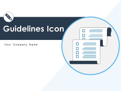 Guidelines Icon Employee Gear Ppt PowerPoint Presentation Complete Deck