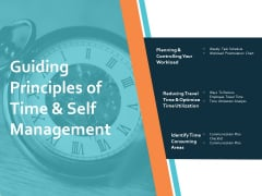 Guiding Principles Of Time And Self Management Ppt PowerPoint Presentation Gallery Professional