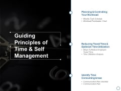 Guiding Principles Of Time And Self Management Ppt PowerPoint Presentation Inspiration Layout