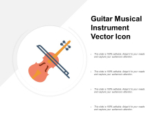 Guitar Musical Instrument Vector Icon Ppt PowerPoint Presentation Show Format