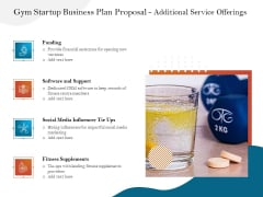 Gym And Fitness Center Business Plan Gym Startup Business Plan Proposal Additional Service Offerings Elements PDF