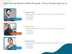 Gym And Fitness Center Business Plan Gym Startup Business Plan Proposal Client Testimonials Team Rules PDF