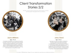 Gym Consultant Client Transformation Stories Demonstration PDF