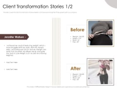 Gym Consultant Client Transformation Stories Teamwork Themes PDF