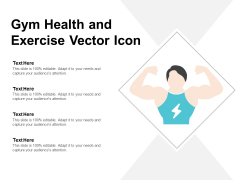 Gym Health And Exercise Vector Icon Ppt Powerpoint Presentation Ideas Maker