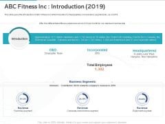 Gym Health And Fitness Market Industry Report Abc Fitness Inc Introduction 2019 Information PDF