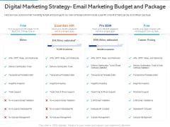 Gym Health And Fitness Market Industry Report Digital Marketing Strategy Email Marketing Budget And Package Ppt Model Styles PDF