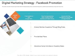 Gym Health And Fitness Market Industry Report Digital Marketing Strategy Facebook Promotion Information PDF