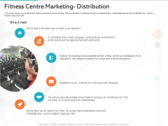 Gym Health And Fitness Market Industry Report Fitness Centre Marketing Distribution Infographics PDF