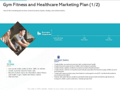 Gym Health And Fitness Market Industry Report Gym Fitness And Healthcare Marketing Plan Business Ppt Icon Brochure PDF