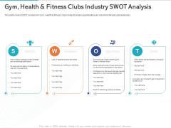 Gym Health And Fitness Market Industry Report Gym Health And Fitness Clubs Industry Swot Analysis Ppt Portfolio File Formats PDF