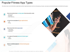 Gym Health And Fitness Market Industry Report Popular Fitness App Types Ppt PowerPoint Presentation Gallery Format Ideas PDF