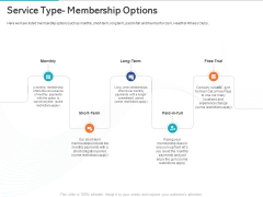 Gym Health And Fitness Market Industry Report Service Type Membership Options Ppt PowerPoint Presentation Show Slide PDF