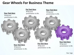 Gear Wheels For Business Theme Ppt Action Plan PowerPoint Slides