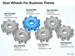Gear Wheels For Business Theme Ppt Plan Ideas PowerPoint Slides