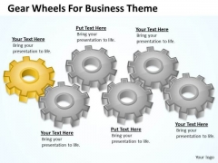 Gear Wheels For Business Theme Ppt Plan PowerPoint Slides