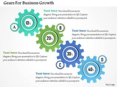 Gears For Business Growth PowerPoint Template
